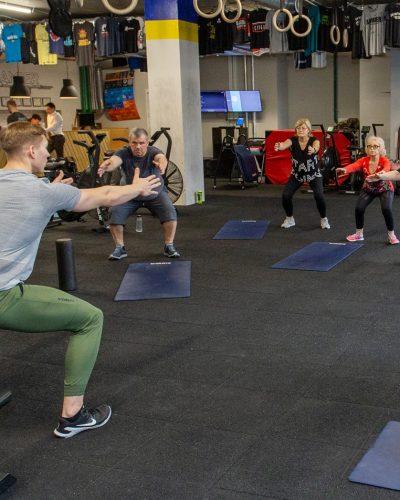 Amber CrossFit treniruotes senjorams